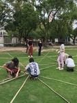 竹材を使った休憩スペースの企画提案