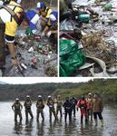 西湖湖底清掃クニマスがすむ環境を守るプロジェクトに参加しました。