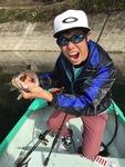 釣り好きがにじみ出ている、変顔大好き京田くん!