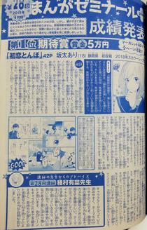 【受賞】マーガレット まんがゼミナール+ ☆期待賞☆