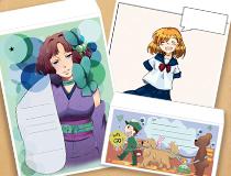 在校生のイラストがオリジナル封筒に採用!